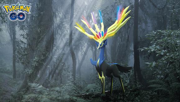 Xerneas feiert sein Debüt in Pokémon GO im Event Illuminierende Legenden X