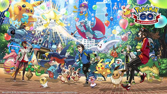 Feiere 3 Jahre <em>Pokémon GO</em>!