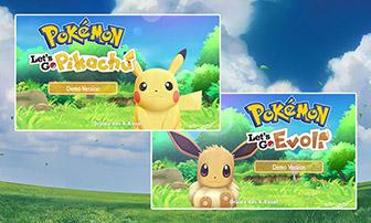 Spiele die Demoversion von Pokémon: Let's Go, Pikachu! und Pokémon: Let's Go, Evoli!