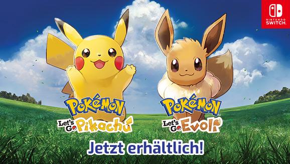<em>Pokémon: Let's Go, Pikachu!</em> und <em>Pokémon: Let's Go, Evoli!</em> sind da!