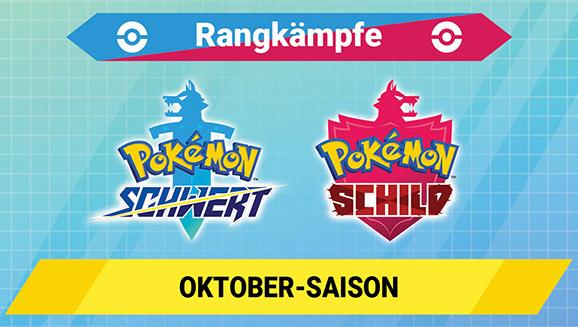 Tritt in der Oktober-Saison der Rangkämpfe in Pokémon Schwert und Pokémon Schild an