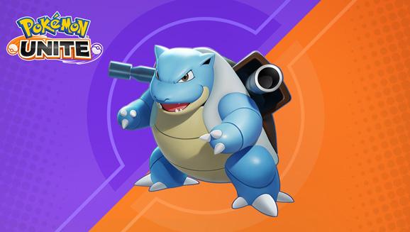 Turtok (EN: Blastoise) spült in Pokémon UNITE die Opposition weg