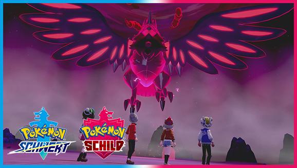 Finde Schillernde Pokémon und Gigadynamax-Pokémon in der Naturzone