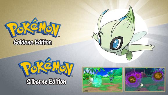 Erhalte ein besonderes Celebi für den Kauf von <em>Pokémon Goldene Edition</em> oder <em>Pokémon Silberne Edition</em>