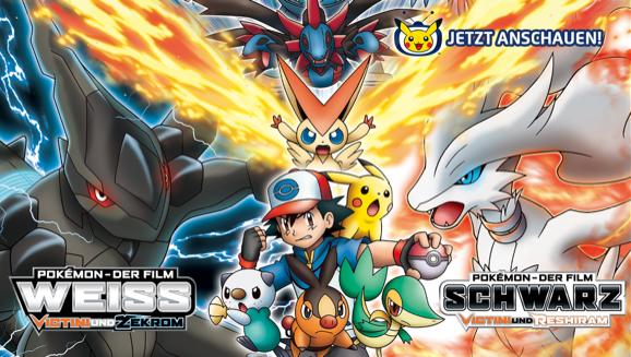 Reshiram oder Zekrom? Beide Filme – jetzt auf Pokémon-TV
