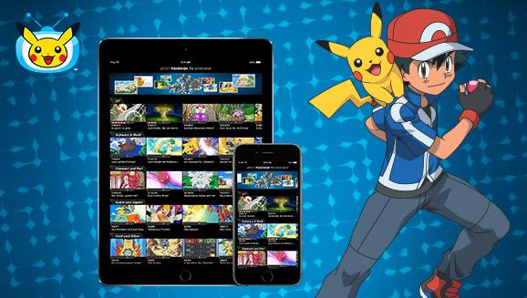 Lade die aktualisierte <em>Pokémon TV App</em> herunter!