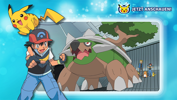 Schau dir Chelast, Panflam und Plinfa auf Pokémon-TV an