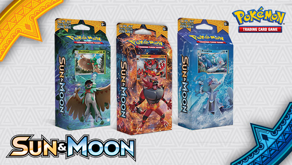<em>Sun & Moon</em> Theme Decks