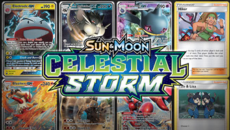 Browse the Cards of Sun & Moon—Celestial Storm!