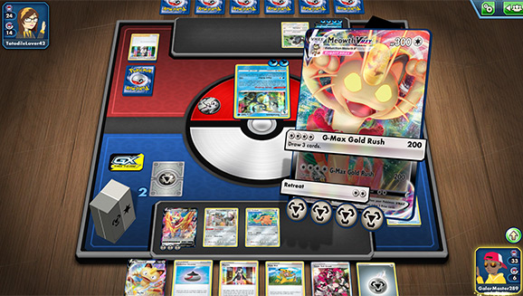 Play the Pokémon TCG Online