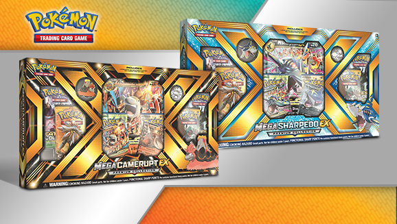 Pokémon TCG: Mega Camerupt-<em>EX</em> and Mega Sharpedo-<em>EX</em> Premium Collections