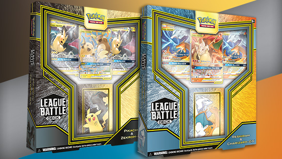 Pikachu & Zekrom-<em>GX</em> and Reshiram & Charizard-<em>GX</em> League Battle Decks