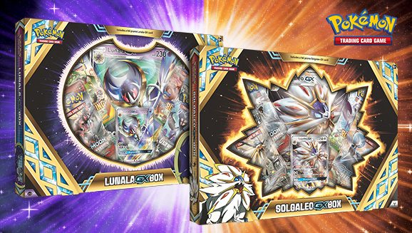 Pokémon TCG: Solgaleo-<em>GX</em> Box and Lunala-<em>GX</em> Box
