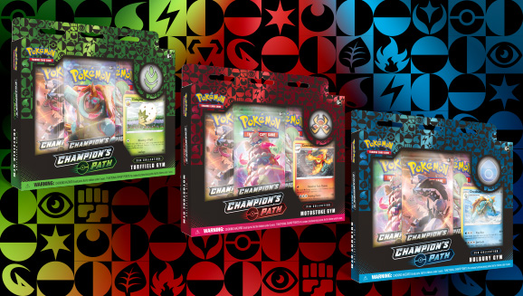 <em>Champion's Path</em> Pin Collections: Turffield, Hulbury, <em>and</em> Motostoke Gyms