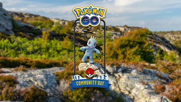 Machop Muscles in on Community Day
