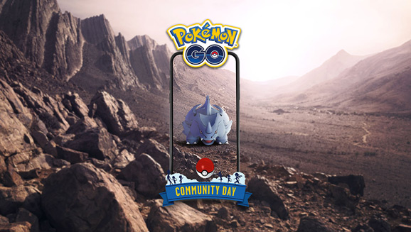February Community Day Is Rife with Rhyhorn