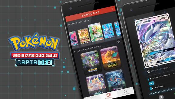 La aplicación CartaDex del Juego de Cartas Coleccionables Pokémon