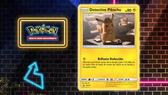 Encuentra al detective Pikachu en Detective Pikachu de JCC Pokémon