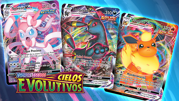 Triple jugada de JCC Pokémon: la familia de Pokémon VMAX de Eevee