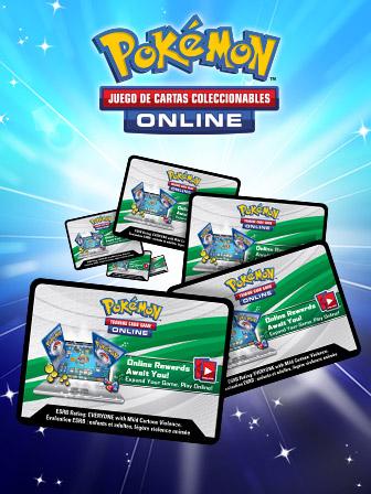 ¡Canjea códigos de JCC Pokémon Online!