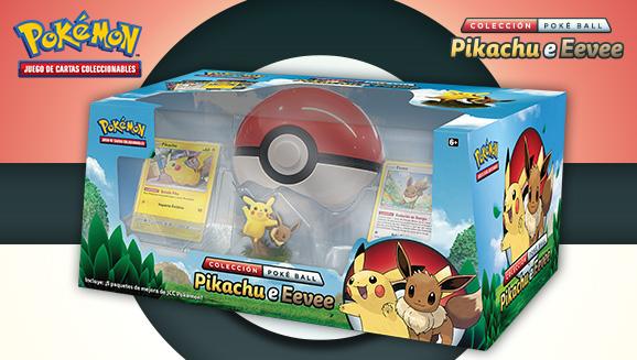 Colección Poké Ball Pikachu e Eevee de JCC Pokémon