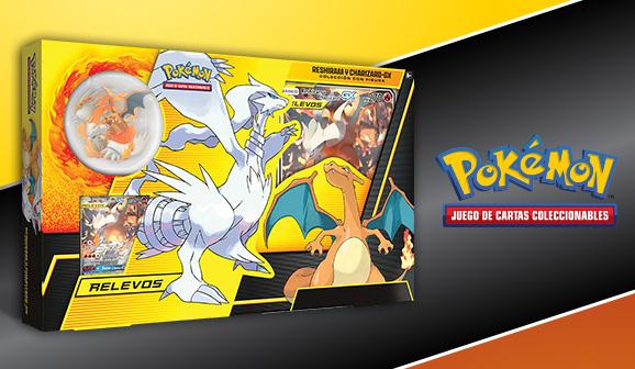 Colección con figura Reshiram y Charizard-<em>GX</em> de JCC Pokémon