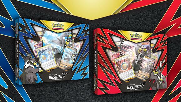 Colección Urshifu Golpe Brusco V y Colección Urshifu Golpe Fluido V de JCC Pokémon