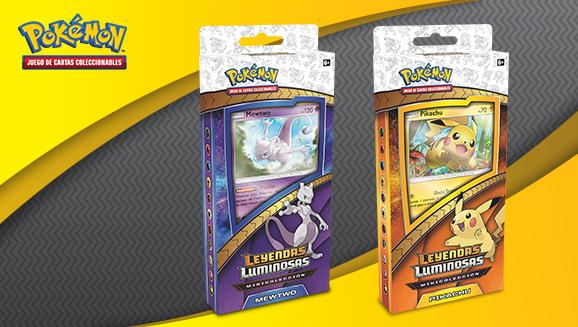 Minicolecciones Pikachu y Mewtwo de <em>Leyendas Luminosas</em> de JCC Pokémon