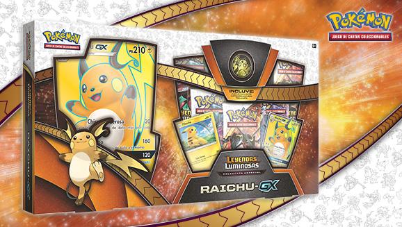 Colección especial Raichu-<em>GX</em> de <em>Leyendas Luminosas</em> de JCC Pokémon