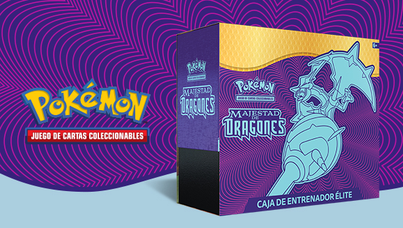 Caja de Entrenador Élite de <em>Majestad de Dragones</em> de JCC Pokémon