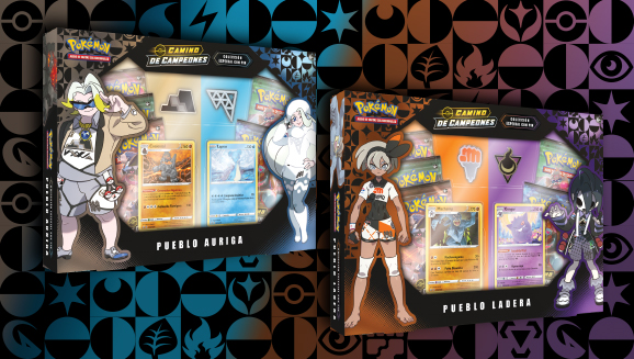 Colección especial con pin de <em>Camino de Campeones</em> de JCC Pokémon