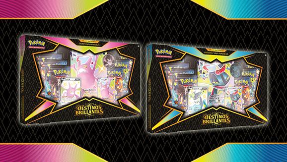 Colección premium Crobat VMAX variocolor y Dragapult VMAX variocolor de <em>Destinos Brillantes</em>