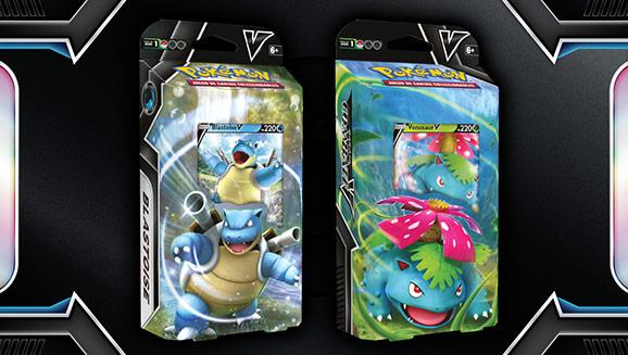 Barajas Combate V de JCC Pokémon (Venusaur V y Blastoise V)
