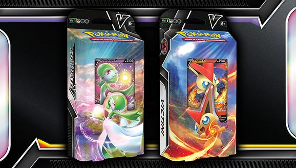 Barajas Combate V de JCC Pokémon (Victini V y Gardevoir V)