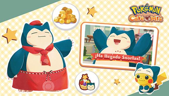 Forma un equipo para incorporar a tu plantilla a Snorlax en Pokémon Café Mix