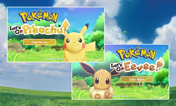 Juega a la <em>Versión de prueba de Pokémon: Let's Go, Pikachu! y Pokémon: Let's Go, Eevee!</em>