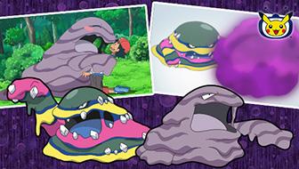Muk y Muk de Alola se cubren de mugre en TV Pokémon