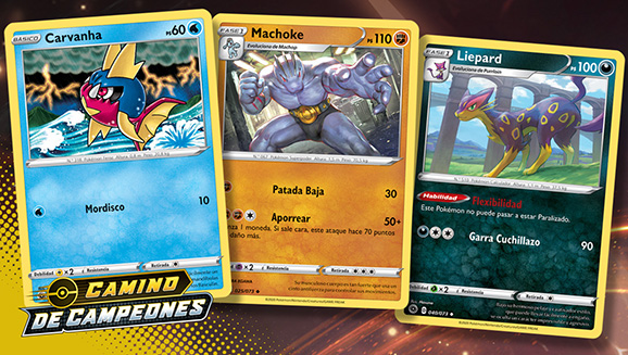 Ilustraciones de Camino de Campeones de JCC Pokémon