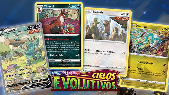 Ilustraciones de Espada y Escudo-Cielos Evolutivos de JCC Pokémon