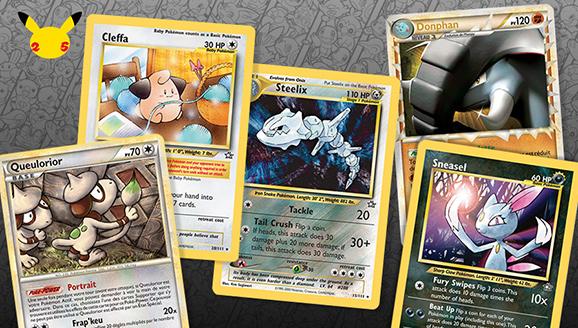 Les cartes préférées du JCC Pokémon de l'époque de Johto