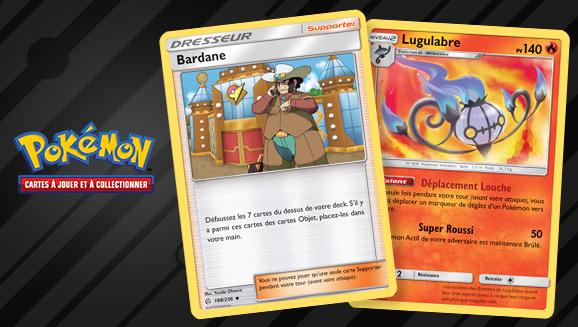Errata pour les cartes de Bardane et Lugulabre dans le JCC Pokémon