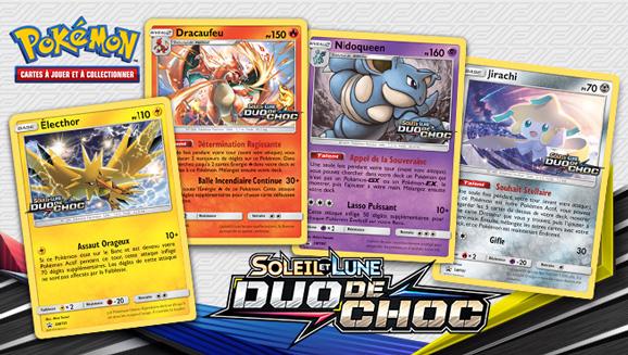 Testez de nouvelles cartes avec vos amis dans une Avant-première de <em>Soleil et Lune– Duo de Choc</em>!