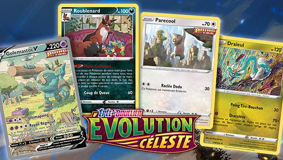 Volez haut grâce à Épée et Bouclier – Évolution Céleste et avec les illustrations du JCC Pokémon