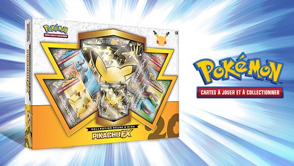 Collection Rouge & Bleu – Pikachu-<em>EX</em> du JCC Pokémon