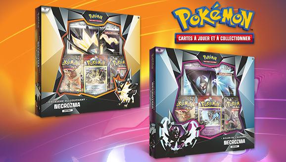 JCC Pokémon : Coffrets Necrozma Crinière du Couchant ou Necrozma Ailes de l'Aurore