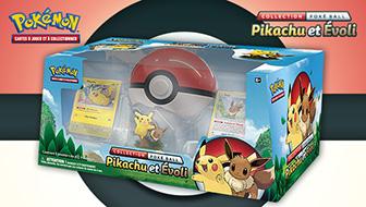 Pikachu et Évoli, amis dans le JCC Pokémon !