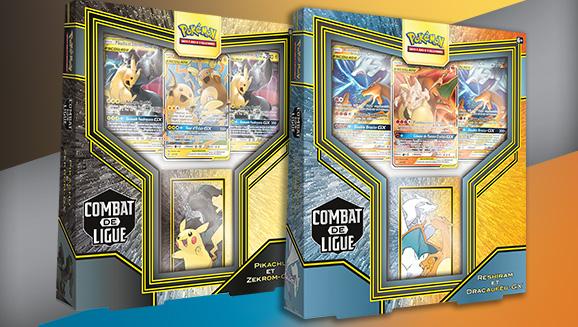Decks Combat de Ligue Pikachu et Zekrom-<em>GX</em> ou Reshiram et Dracaufeu-<em>GX</em>