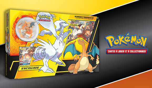 JCC Pokémon : Collection avec figurine – Reshiram et Dracaufeu-<em>GX</em>