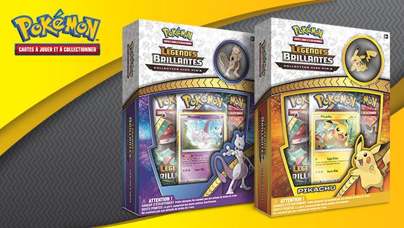 JCC Pokémon : Collections avec pin's <em>Légendes Brillantes</em> – Pikachu et Mewtwo