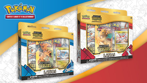 JCC Pokémon : Collections avec pin's <em>Majesté des Dragons</em> – Latias et Latios